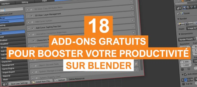 18 Add-ons gratuits pour booster votre productivité sur Blender