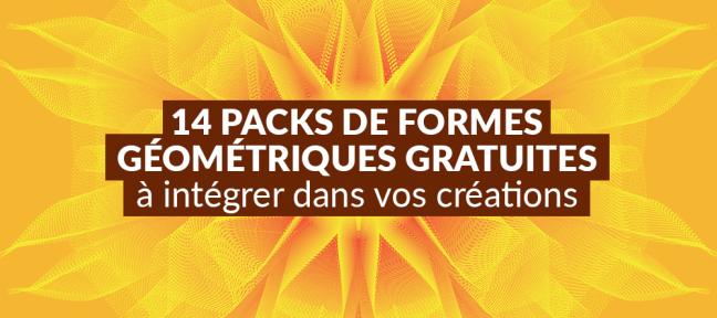 14 packs de formes géométriques gratuites à intégrer dans vos créations