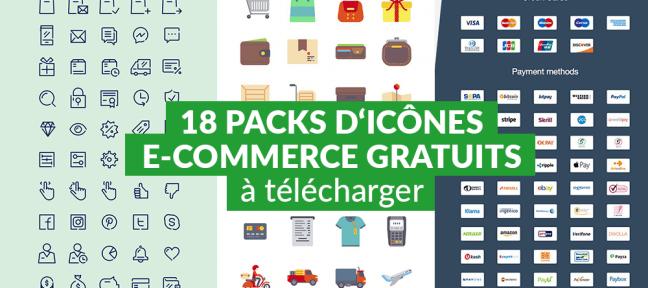 18 packs d'icônes e-commerce gratuits à télécharger