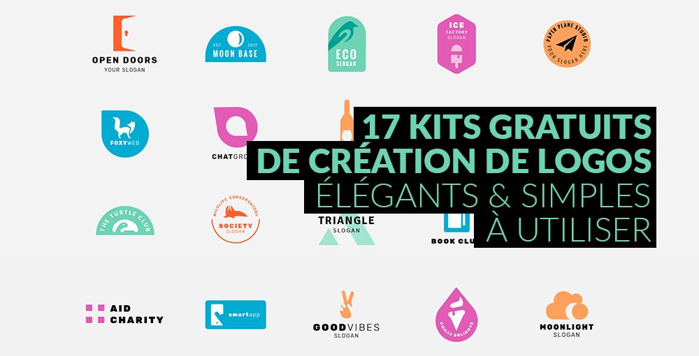 17 kits gratuits de création de logos élégants et simples à utiliser