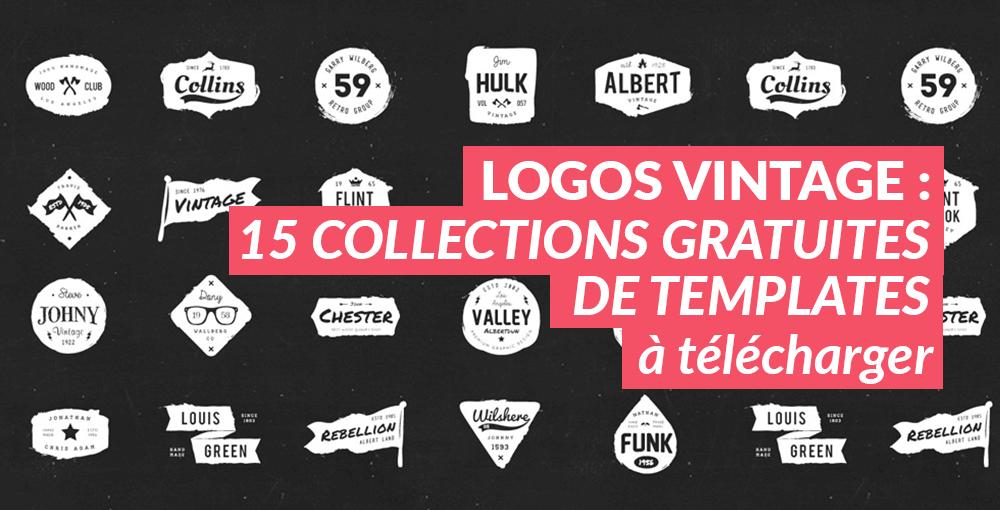 Préférence Logos vintage : 15 collections gratuites de templates KV46