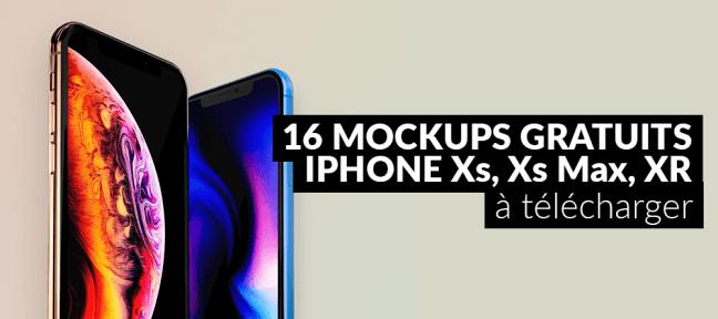 16 mockups gratuits iPhone Xs, Xs Max et XR à télécharger