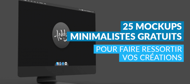 25 mockups minimalistes gratuits pour faire ressortir vos créations