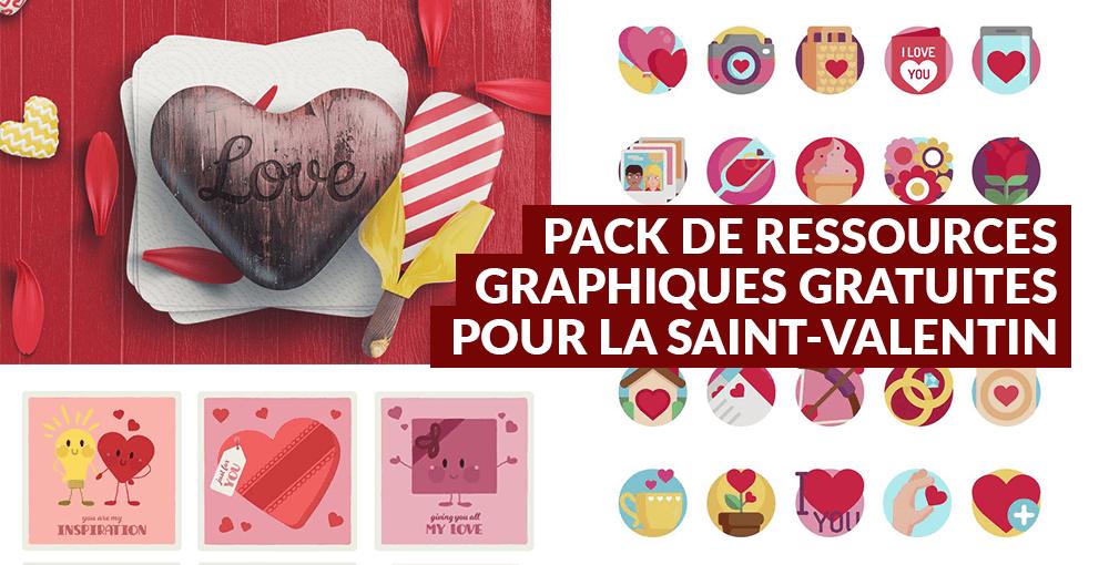 Pack de ressources graphiques gratuites pour la Saint-Valentin