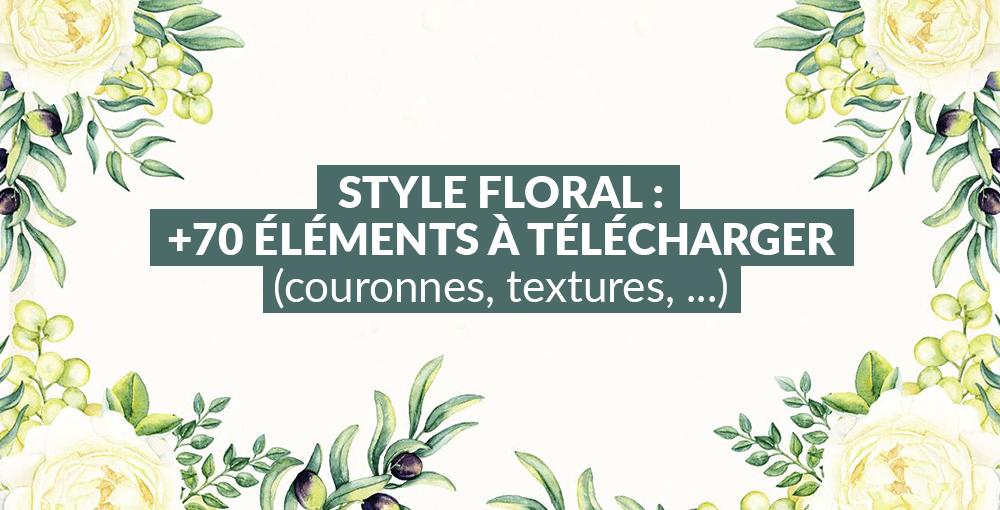 Style Floral 70 éléments à Télécharger Couronnes