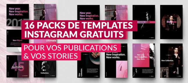 16 packs de templates Instagram gratuits pour vos publications et vos stories