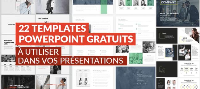 22 templates Powerpoint gratuits à utiliser pour vos présentations