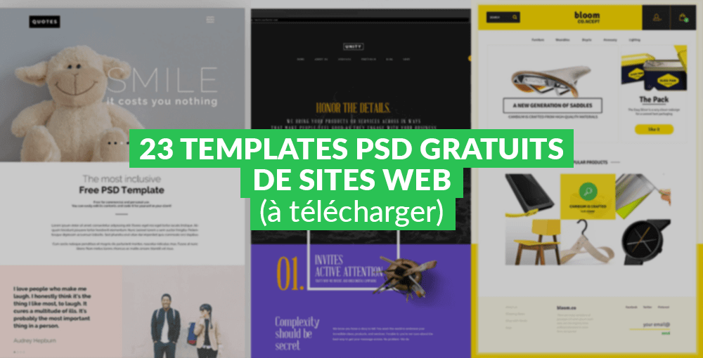 23 templates psd gratuits de sites web   u00e0 t u00e9l u00e9charger