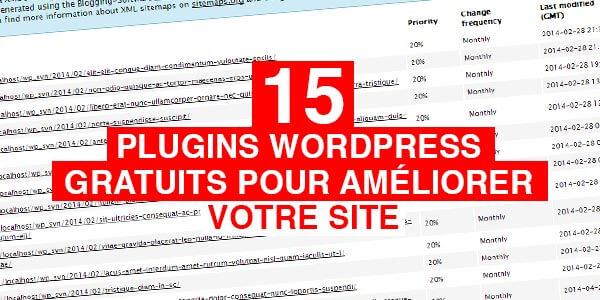 15 plugins Wordpress gratuits pour améliorer votre site