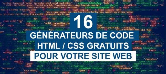 16 générateurs de code gratuits pour vos sites web