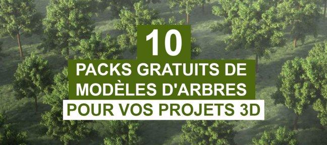 10 packs de modèles 3D gratuits d'arbres pour vos projets (+2 Bonus)