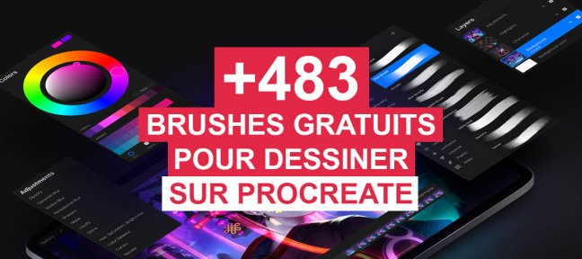 +483 Brushes gratuites pour dessiner sur Procreate
