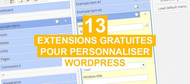 13 extensions gratuites pour personnaliser Wordpress