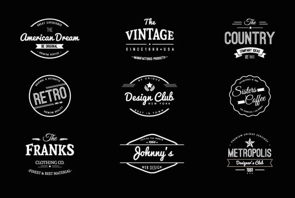 Bien-aimé Logos vintage : 15 collections gratuites de templates VN76
