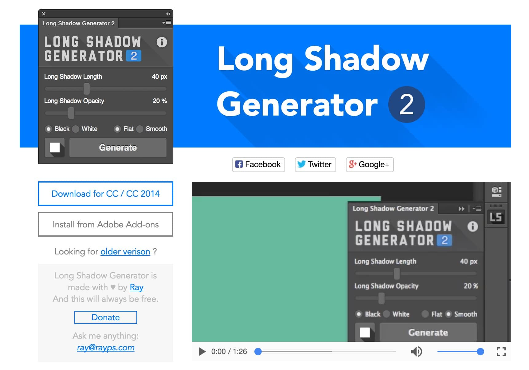 long-shadow-generator