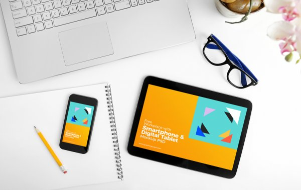 mock up tablette et smartphone