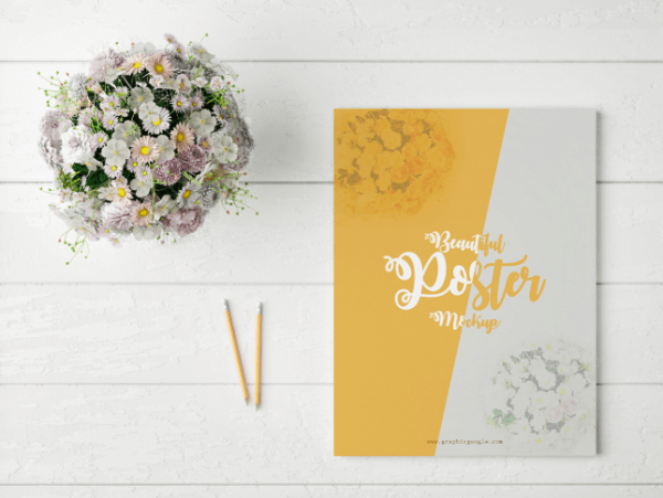 mockup affiche florale