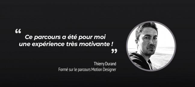 La formation Motion Designer, suivie par Thierry