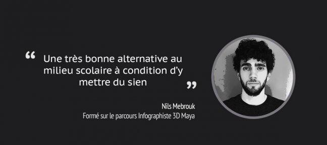 Le témoignage de Nils, formé sur notre parcours Infographiste 3D