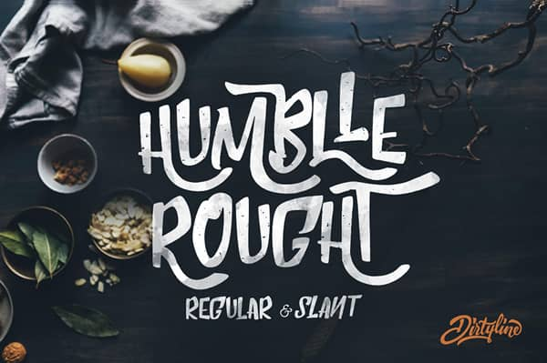 police-ecriture-font-humble-rought