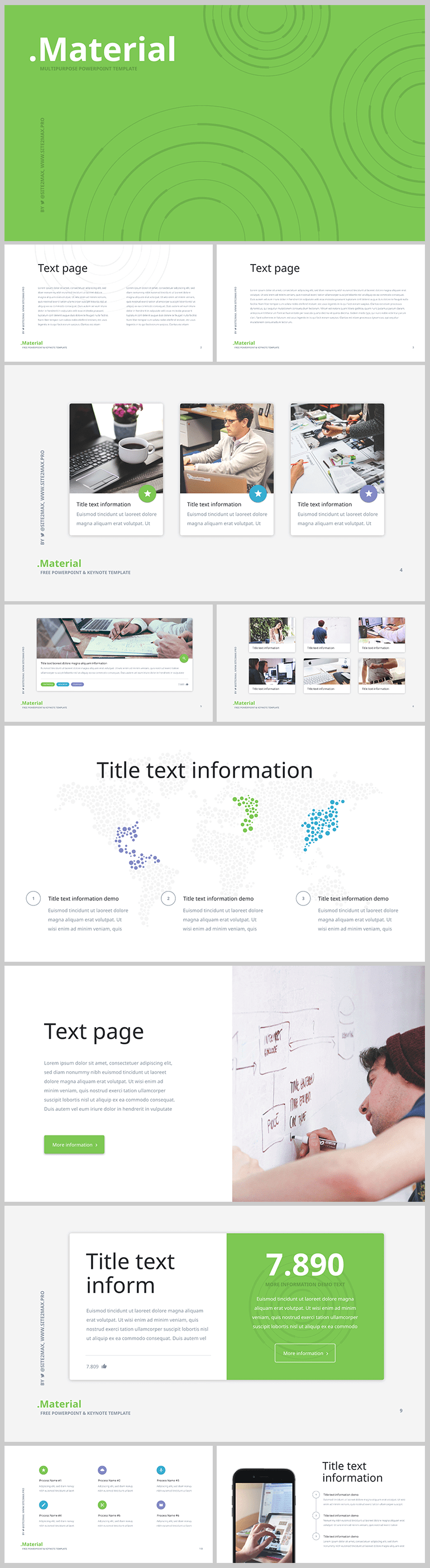 14 Template De Prsentation Powerpoint Material