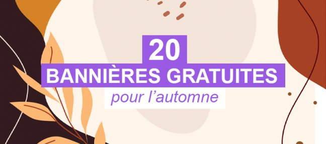 20 bannières gratuites sur le thème de l'automne à personnaliser