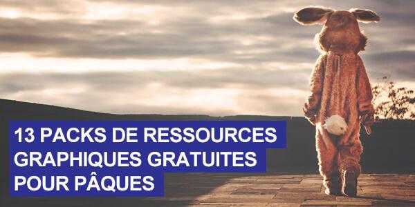 13 packs de ressources gratuites pour vos créations de Pâques 2019