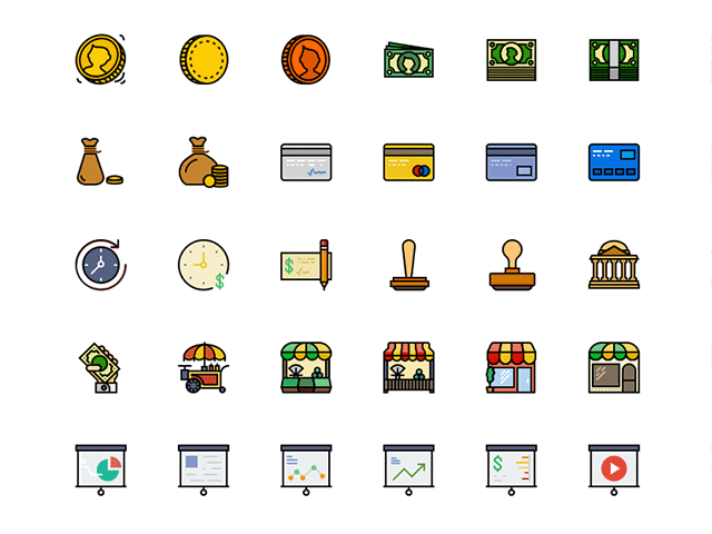 retro-business-icons