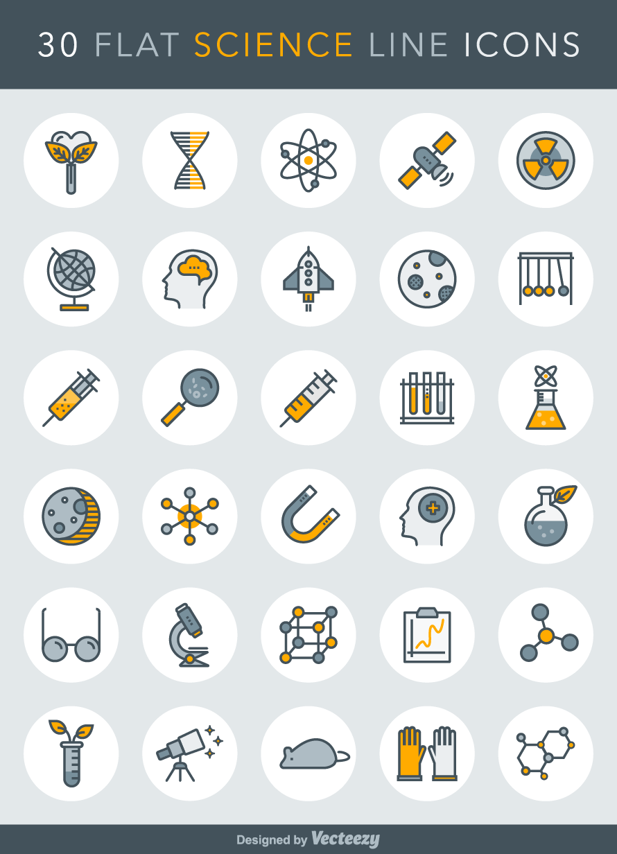 science-line-icons