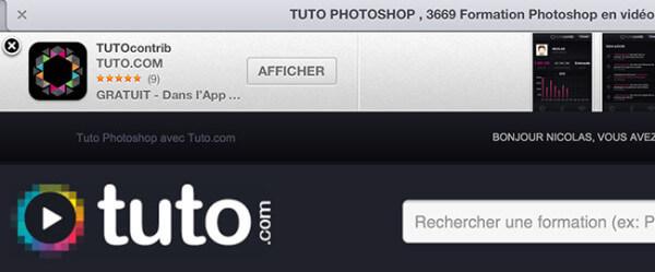 Smart Banner Tuto.com