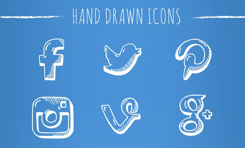 social_handcrafted_icons