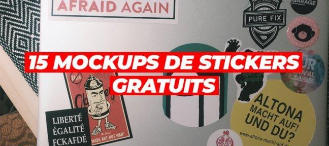 15 mockups de stickers gratuits pour vos travaux graphiques