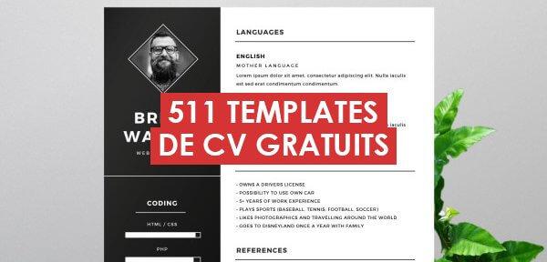 511 templates de CV pour mettre en valeur votre profil