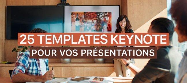 25 Templates Keynote gratuits pour mettre en valeur vos présentations