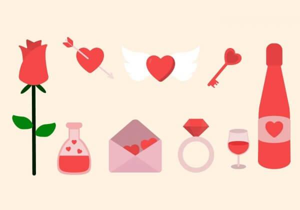 vecteurs essentiel saint valentin