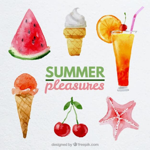 watercolor-summer-pleasures
