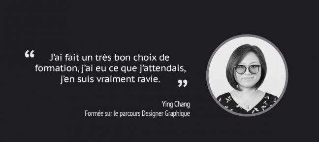 Le retour Ying sur notre formation Designer Graphique